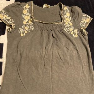 Miss me Grey and yellow flower Blouse